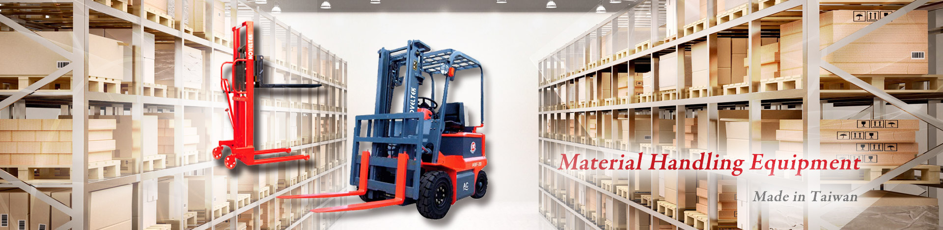 Noveltek Industrial Manufacturing Inc. is a leading manufacturer specialized in Electric Forklift, Powered Pallet Truck, Order Picker Truck.