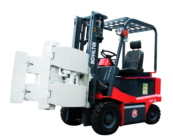 Automated Guided Vehicle System:Advanced Electric Forklift Truck (Load:1.5Tons/2Tons/2.5Tons) + Barrels folder / roll folder Clamp